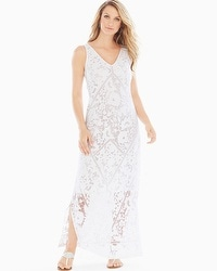 Burnout White Maxi Dress