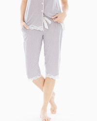 Embraceable Cool Nights Crop Pajama Pants Maritime Smokey Taupe