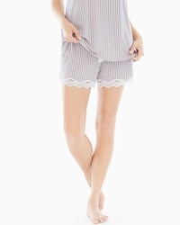 Embraceable Cool Nights Lace Trim Pajama Shorts Maritime Smokey Taupe