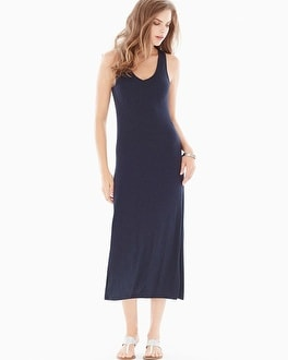 Midnight by Carole Hochman Lounge Maxi Dress Midnight Heather