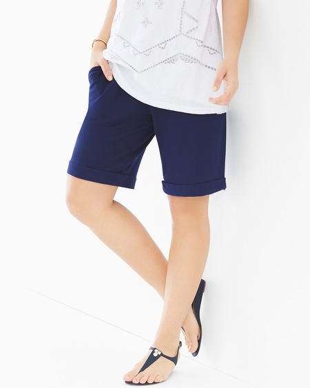 Rolled Cuff Shorts Navy