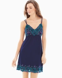 Limited Edition Sensuous Lace Floral Sleep Chemise Navy/Rainforest