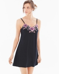 Limited Edition Sensuous Lace Floral A-Line Sleep Chemise Black/Orchid Bloom