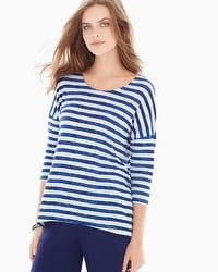 Live. Lounge. Wear. Soft Jersey Top Amazing Stripe Ivory