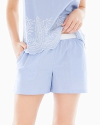 Cool Nights and Cotton Pajama Shorts Impeccable Larkspur Border