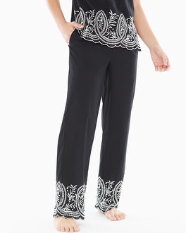 Cool Nights and Cotton Pajama Pants Impeccable Black Border