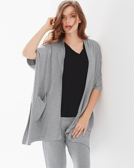 Natori Terry Square Topper Wrap Grey