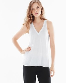 Natori Tranquility Pima Cotton Swing Tank White