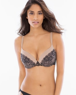 Enhancing Shape Full Coverage Printed Lace Bra