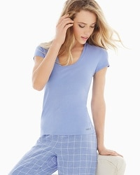 Naked Essential Cotton Blend Tee Lavender Luster
