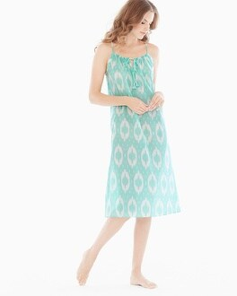 Natori Cotton Midi Nightgown Seafoam