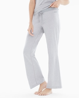 Naked Essential Cotton Blend Pajama Pants with Trim Metro Gray Heather