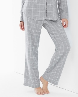 Naked Essential Cotton Pajama Pants Plaid Metro Heather Gray