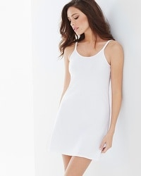 Naked Essential Cotton Blend Slip Chemise White