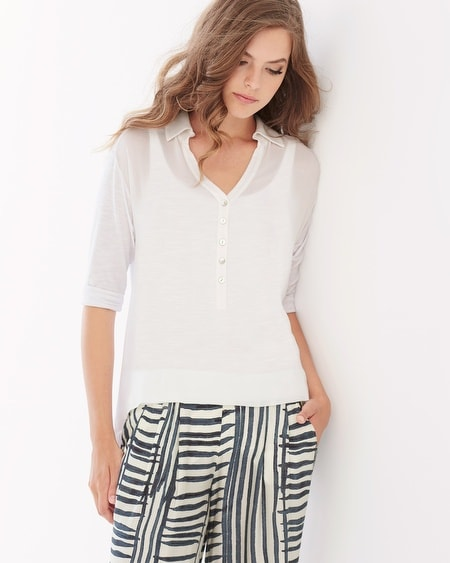 Caitlyn High-Low Shaping Top White