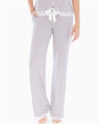 Embraceable Cool Nights Tall Inseam Pajama Pants Maritime Smokey Taupe