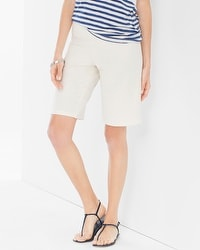 Premium Cotton Bermuda Shorts Ivory