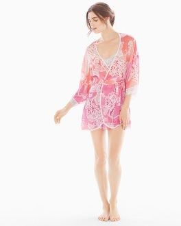 In Bloom by Jonquil Chelsea Short Robe Coral