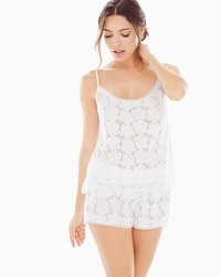 In Bloom Lucky Girl Pajama Set White