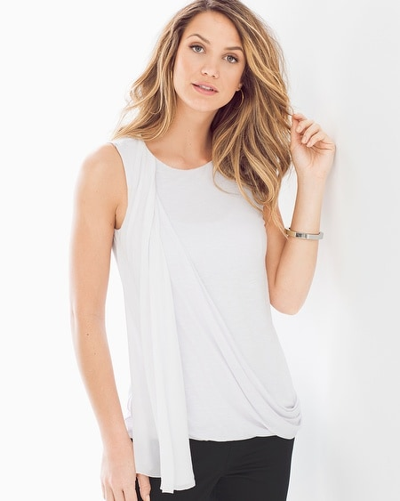 Gigi Side Drape Top White