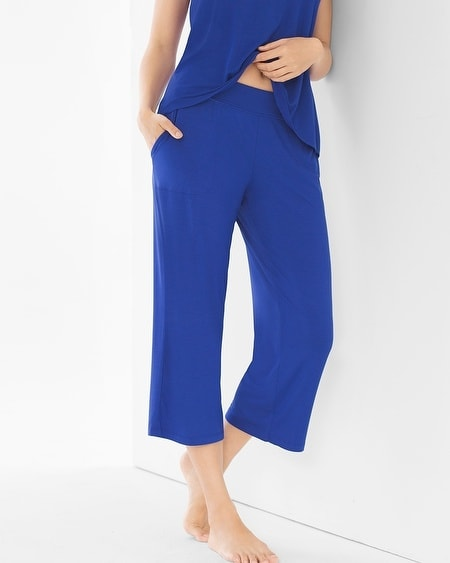 Crop Pajama Pants Jewel Blue