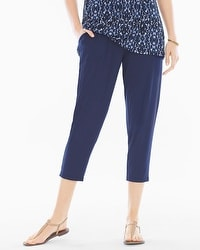 Live. Lounge. Wear. Narrow-Leg Crop Pants Navy