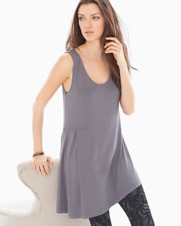 Live. Lounge. Wear. Side Drape Tunic Excalibur Grey