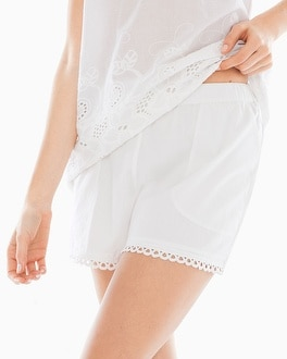 Island Eyelet Pajama Shorts Bright White