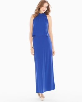 Leota Skyler Maxi Dress Cobalt