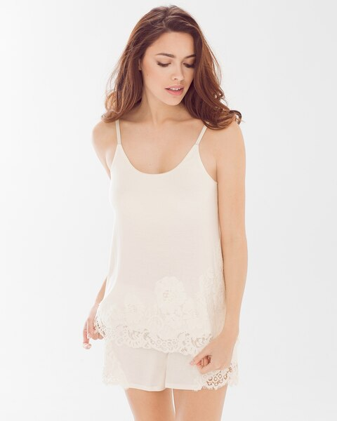 4f19f587a4 Cami and Shorts Pajama Set Ivory - Soma