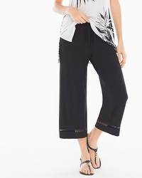Live. Lounge. Wear. Wide-Leg Crochet Hem Pants