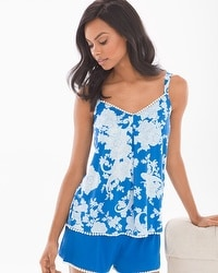 Cool Nights Crochet Camisole Haven Paisley Capri Blue