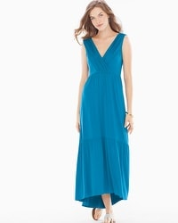 Tiered Sleeveless Midi Dress Peacock