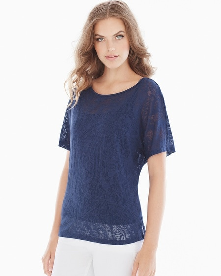 Paige Top Navy