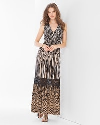 Crochet Maxi Dress Ikat Cat
