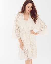 Allover Lace Robe Ivory