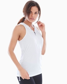 Slimming Miraclesuit Sport Activewear Hooded Tank White
