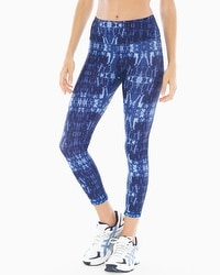 MSP by Miraclesuit Reversible Printed Crop Leggings Ultramarine Combo