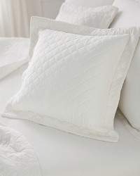 Viscose from Bamboo Luxe Quilted Pillow Sham Ivory