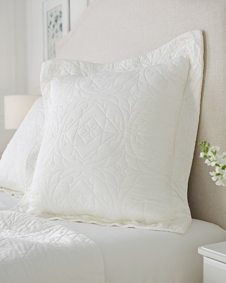 Luxe Quilted Euro Sham Ivory