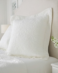Viscose from Bamboo Luxe Quilted Euro Sham Ivory