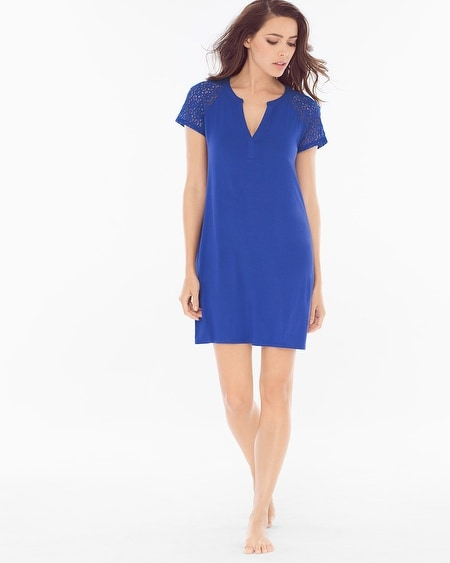 Short Sleeve Sleepshirt Jewel Blue