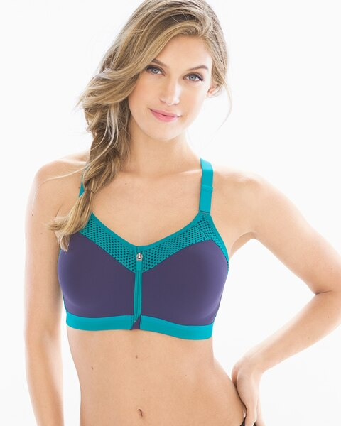ea87644aee Return to thumbnail image selection Zip-Front Contour Sports Bra video  preview image
