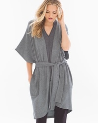 Midnight by Carole Hochman Chunky Knit Robe Heather