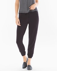 Midnight by Carole Hochman Jogger Pants Black