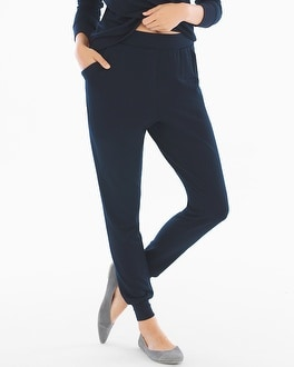 Midnight by Carole Hochman French Terry Lounge Pants Midnight