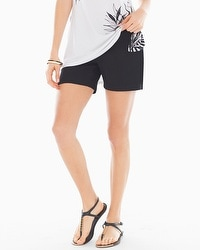 Cotton Blend Shorts Black