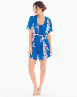 In Bloom Antonia Sheer Short Robe Floral Print