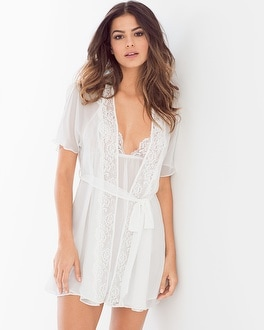 In Bloom Belezia Sheer Robe Ivory