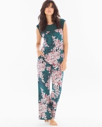 Midnight by Carole Hochman Chiffon Pajama Set Bouquet